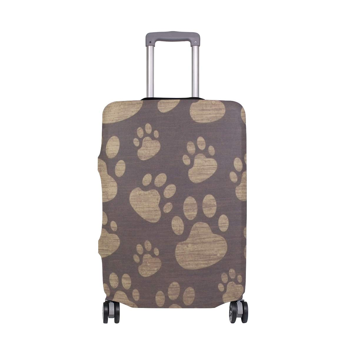 Brown Cat Paw Print suitcase cover elastic suitcase cover zipper luggage case removable cleaning suitable for 29-32 trunk cover
