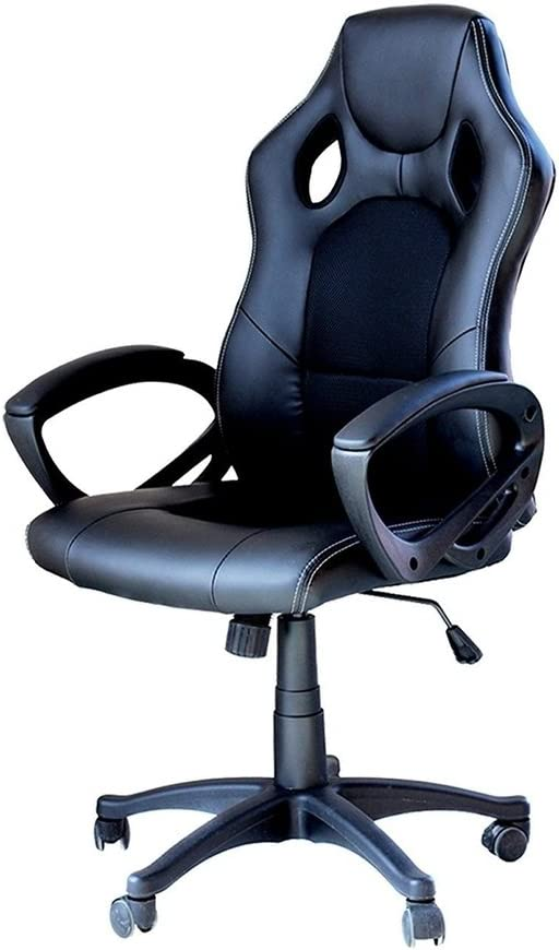 Office Adjustable Desk Mesh Chair Computer Swivel High Back Ergonomic Lumbar Support PU Leather Gaming Racing Chair by EBS