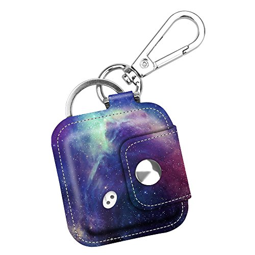 Fintie Tile Mate/Sport/Style Case with Carabiner Keychain, Anti-Scratch Vegan Leather Protective Skin Cover for Tile Mate (2016 Release), Tile Sport, Tile Style Key Finder Phone Finder, Galaxy