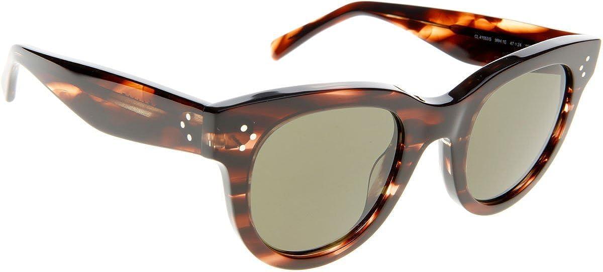 c3451acd8e Celine 41053 S 9RH Havana   Beige 41053 S Round Sunglasses Lens Category 3  Size  Amazon.co.uk  Clothing