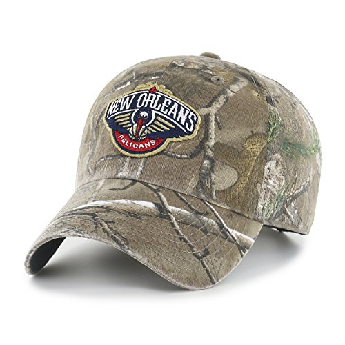 NBA New Orleans Pelicans Realtree OTS Challenger Adjustable Hat, Realtree Camo, One Size
