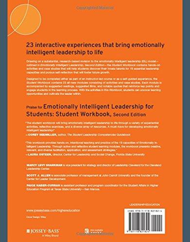 Emotionally Intelligent Leadership For Students Student Workbook