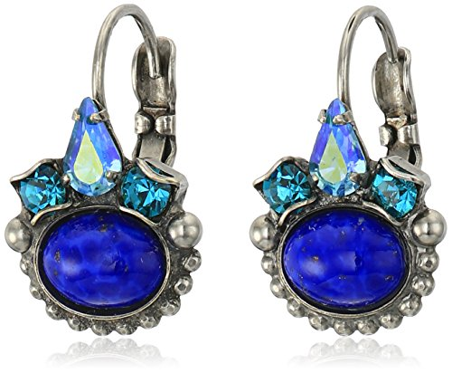 UPC 802146242029, Sorrelli Electric Blue Petite Oval Semi-Precious French Wire Drop Earrings