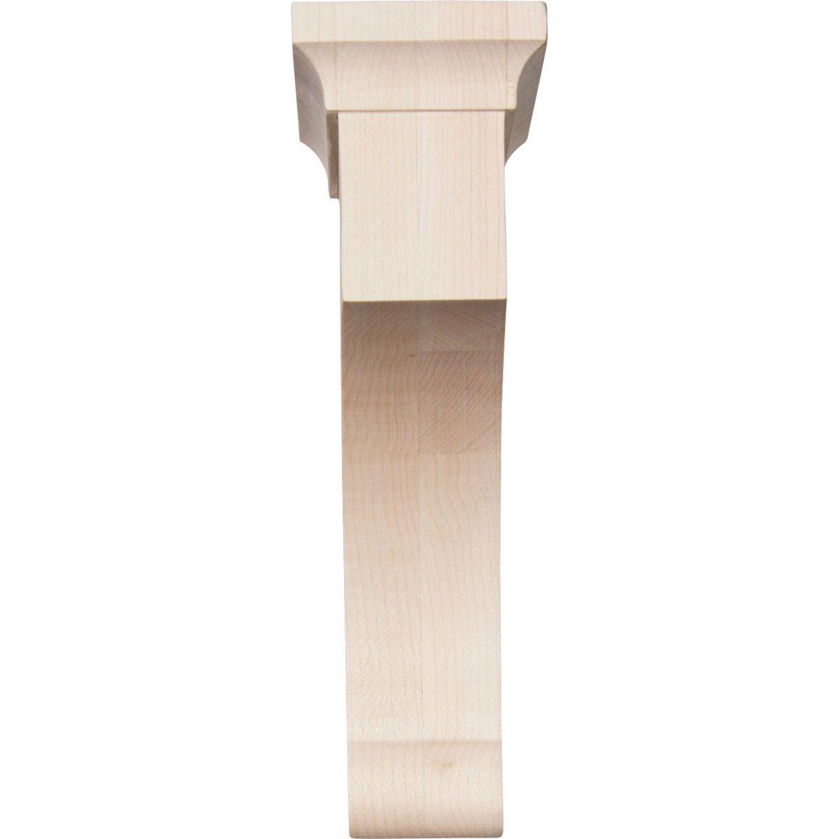 2-Pack Red Oak Ekena Millwork BKTW02X08X12GORO-CASE-2 2 1//2 W x 8 D x 12 H Extra Large Gomez Wood Bracket ,