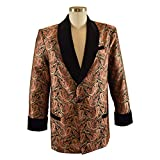 Product review for Smoky Joe's Clothing - Men's Red/Gold Paisley Smoking Jacket