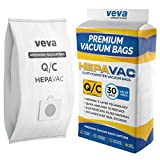 VEVA 30 Pack Premium HEPA Vacuum Bags Type Q Cloth Bag Compatible with Kenmore Sears Canister Vacuum Cleaners Replacement Style C, CQ, 5055, 50557, 50558, 53292, 53291 Bags