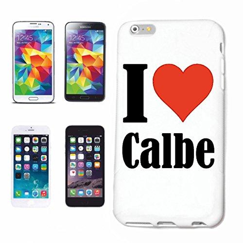 """Handyhülle iPhone 4 / 4S """"I Love Calbe"""" Hardcase Schutzhülle Handycover Smart Cover für Apple iPhone … in Weiß … Schlank und schön, das ist unser HardCase. Das Case wird mit einem Klick auf deinem Sma"""