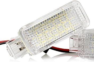 Light Delux V 030901 1 Led Fußraumbeleuchtung Kofferraumbeleuchtung Türeinstiegsleuchten Schminkspiegel Handschuhfach Auto