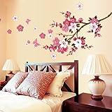 VivReal® Flower Blossom Pattern Removable Wall Sticker Decal Art DIY Home Decor
