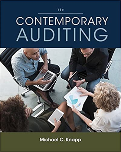Contemporary Auditing Michael C Knapp 9781305970816