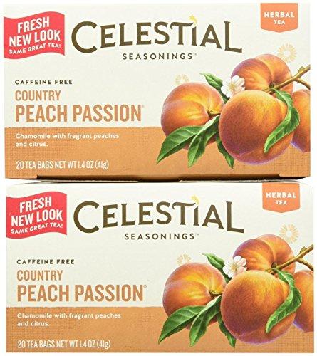 Celestial Seasonings Country Peach Passion Tea Bags, 20 ct, 2 pk