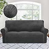 Best Couch Covers - RHF Velvet-Sofa Slipcover, Stretch Couch Covers for 3 Review