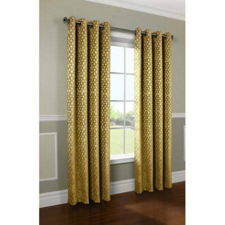 Citrine Rope - Common Wealth Home Fashions Rope Chenille Couture Patterned Curtain, 52 x 84 citrine