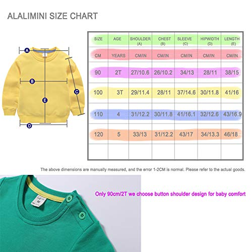 b1d5f7f612e Amazon.com  ALALIMINI Baby Toddler Boy Girl s Sweatshirt 2-Pack Dream UP 2T  3T 4T 5(120cm 5-6)  Clothing