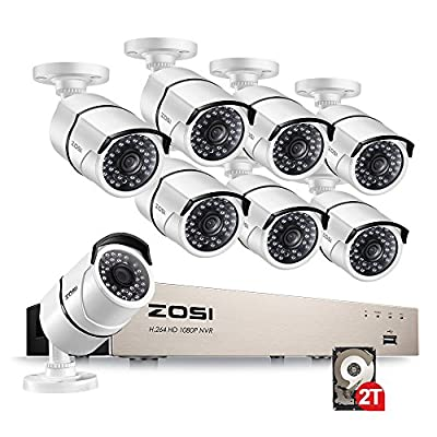 ZOSI 8 Channel 960p AUTO-PAIR WIRELESS SYSTEM 8CH 960P NVR with 8x 1.3P 960P HD Wireless Security IP Camera System (