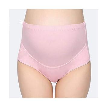 JIWOJIA Las Mujeres Embarazadas Algodón Ropa De Cintura Alta Comodidad Prenatal Transpirable Ropa Interior Ajustable (