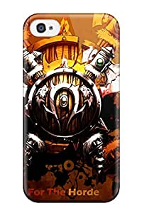 New VQSqO5623zPWJr World Of Warcraft Horde Logo Skin Case Cover Shatterproof Case For Iphone 4/4s