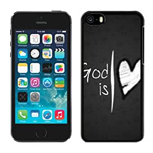 Popular And Durable Designed Case For iPhone 5C With God Is Love Heart Phone Case