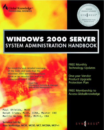 Download Windows 2000 Server System Administration Handbook Pdf