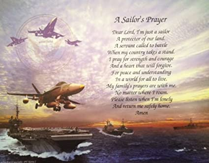 Navy Gift Sailors Prayer Birthday Dad Veterans Day Fathers For Husband Son Wife