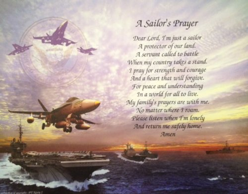 Navy Gift Sailor's Prayer Birthday (Dad) Veterans Day Father's Day for Husband Son Wife Mother