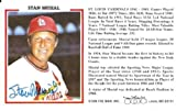 Stan Musial Signed Stat Card St. Louis Cardinals - JSA Authentic - Autographed MLB Baseball Memorabilia
