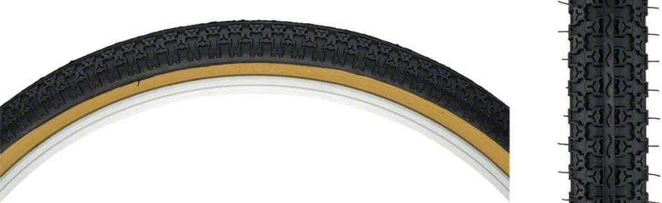 New Kenda K52 Street BMX Tire 24x1.75 Steel Bead Black//Tan