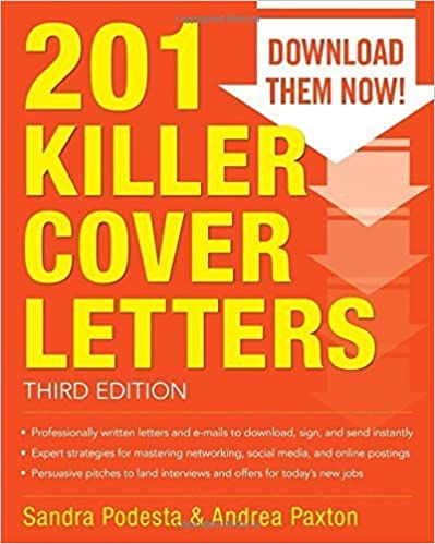 Book 201 Killer Cover Letters Third Edition by Podesta, Sandra, Paxton, Andrea 3rd edition (2014)