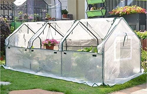 Greenhouse Jardín Punto, Invernadero Blanca Polytunnel con diámetro de 16 mm Marco de Acero del túnel Poli - 120x60x60cm: Amazon.es: Hogar