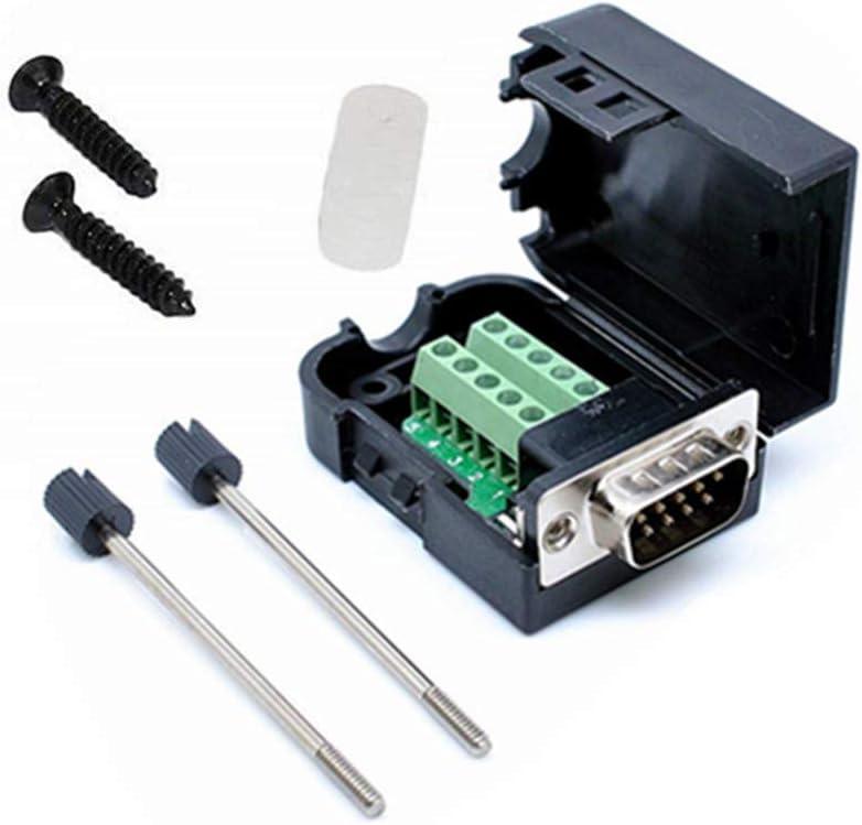D-Sub DB-9 Pin Serial Puerto com Conector RS-232 Adaptador Hembra breakout junta WT