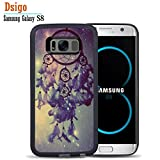 Galaxy S8 Case, Samsung S8 Black Case, Dsigo TPU Black Full Cover Protective Case for New Samsung Galaxy S8 - Vintage Star Tribal Dreamcatcher