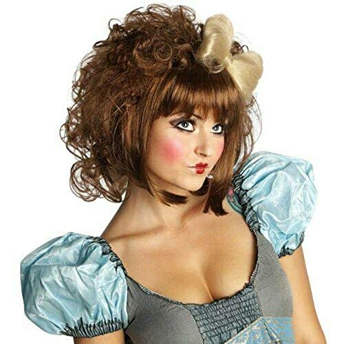 Rubie's Adult Cutie Doll Costume Wig, Brown, One Size