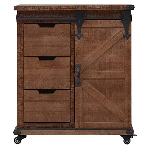 Farmhouse Buffet Sideboards Canditree Farmhouse Buffet Sideboard with Sliding Barn Doors, Kitchen Living Room Storage Cabinet with Casters Solid Fir… farmhouse buffet sideboards