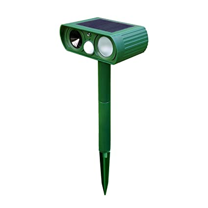 Solar Powered Motion Activated Animal Repeller,Elsetey Outdoor Waterproof Solar Electronic Pest Animal Ultrasonic Repeller, Animal Control, Pest Control, Rodent Repellent, Dog Repellent, Cat Repellent