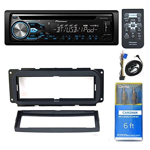 "Pioneer DEH-X4800BT USB DVD CD CAR BLUETOOTH, 9.3 x 1.3 x 3.3 inchesCDK640 Mounting Kit, 6ft CAM2M6N Cable 1/8"" Mini Stereo to Cable 1/8"" Mini Stereo Cable and Accessories"