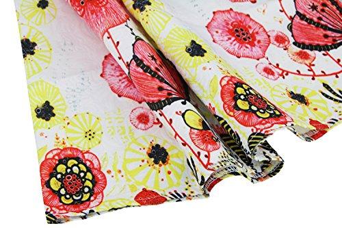 Jacquard Famille Killreal Manches D'une Ligne Mère Fête Papillon Fille Robe Blanche / Floral