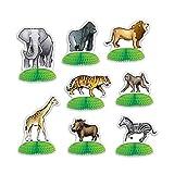 Bargain World Jungle Safari Animal Mini Centerpieces (with Sticky Notes)
