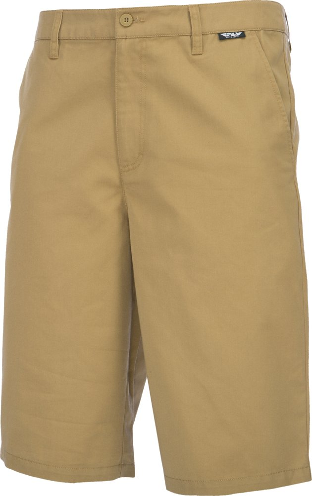 Fly Racing Unisex-Adult Stock Shorts (Khaki, Size 30)