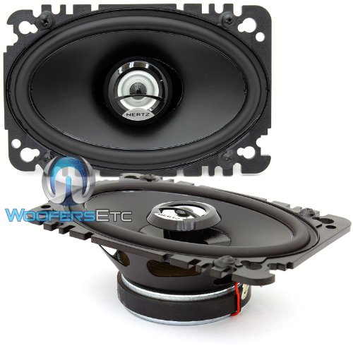 (DCX 460.3 Hertz 4 x 6 Inch 2-Way 80W RMS DIECI Series Coaxial Speakers)