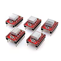 BIQU A4988 Compatible Stepper StepStick Motor Diver Module with Heat Sink for 3D Printer Controller Ramps 1.4(Pack of 5pcs) from BIQU