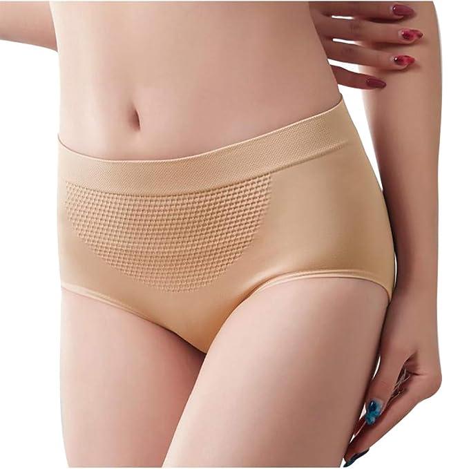 OPAKY Pantalones Cortos para Mujer de Cintura Alta con Control de la Barriga para Mujer Faja