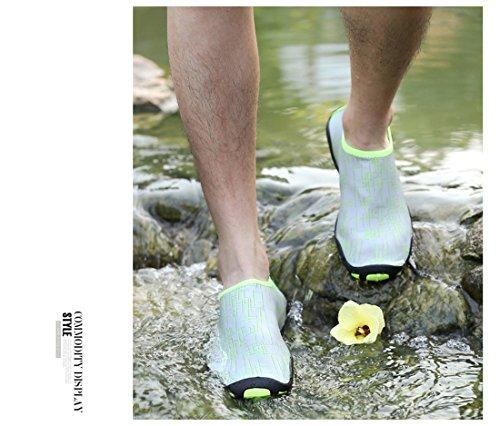 Z.suo Män Kvinnor Och Barn Barfota Flexibla Snabbtorkande Vatten Skor Aqua Strumpor För Stranden Simma Surfa Yoga Övning Green