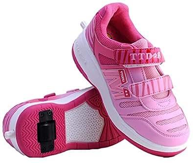 Zapatillas con Ruedas Niña, Color Rosa, Heelys Style (23)