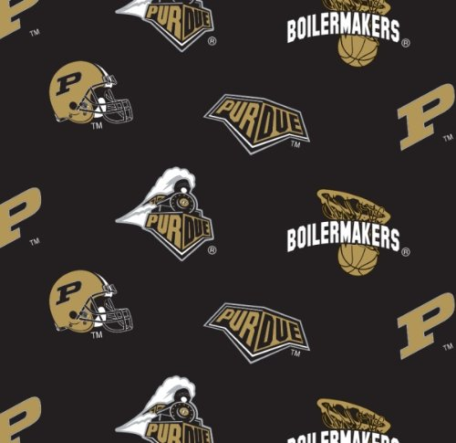 Purdue University Super Soft Collegiate Classic Fleece All Over