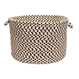 Small Laundry Basket With Grip Handles, Made Of Plastic And Fabric, Presented In Bark Finish