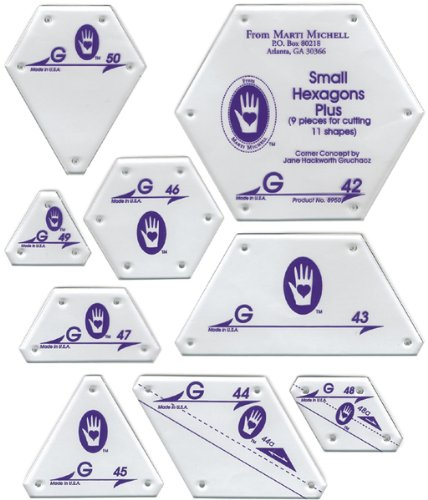 Perfect Patchwork Template-Set G - Small Hexagon S 1 pcs sku# 644498MA by Marti Michell