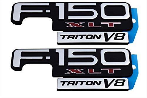 1997-2004 Ford F-150 XL Triton V8 Fender Emblem Right & Left NEW OEM F85Z16720EA