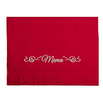 Toalla Toalla Bordada con Mama o Papa y Ornament 550 g/m2 Día de la