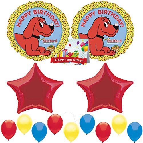 Clifford The Big Red Dog Party Supplies Birthday Balloon Bundle ()