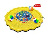 Outdoor Water Toy Sprinkler for Kids – Baby Splash Mat – 67 inch with 3 Beach Balls - Play Water Toy for Toddler